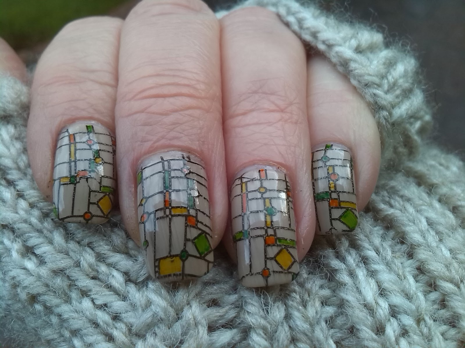 Stained glass nails with EDM 03