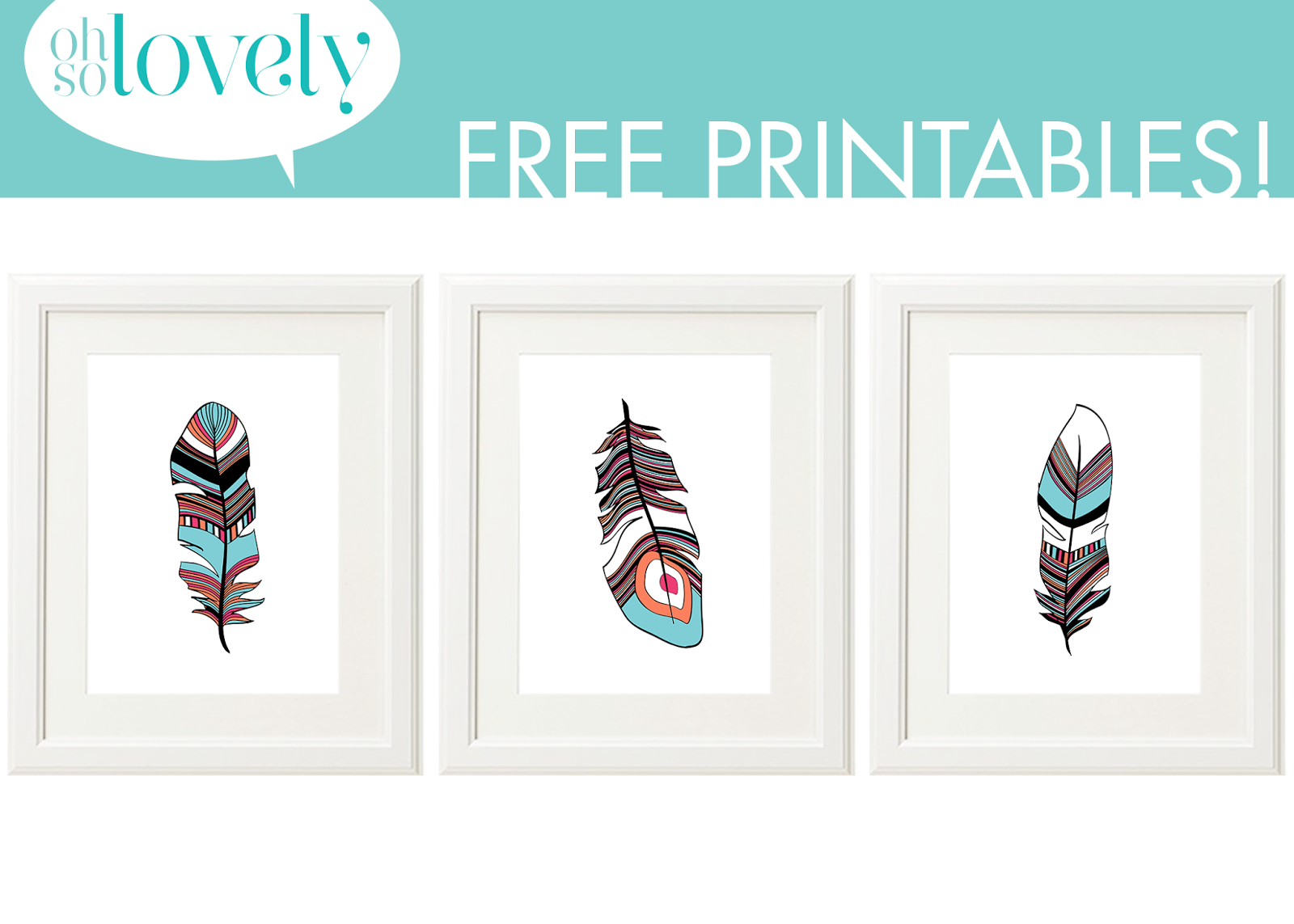 am back with more free printables...this time in the feather variety ...