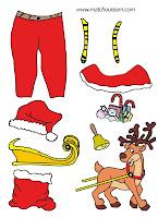 père Noël à habiller