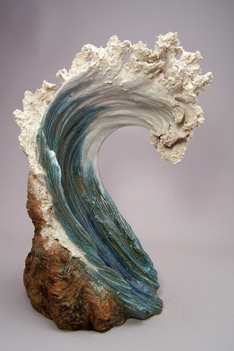 Simply creative ocean inspired ceramic sculptures by