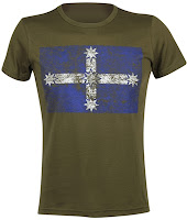 Eureka Flag T-shirt - Military Green