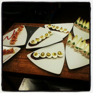 canapes on plate