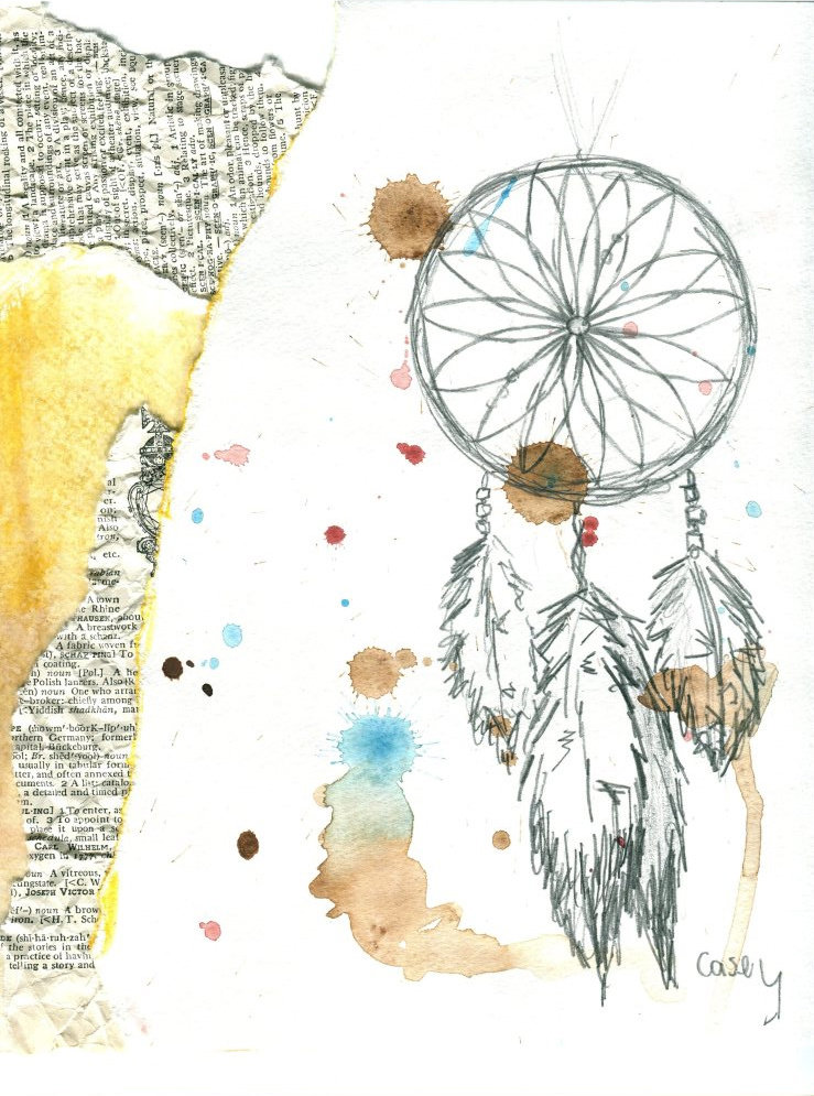 Dream Catcher Feather Drawing