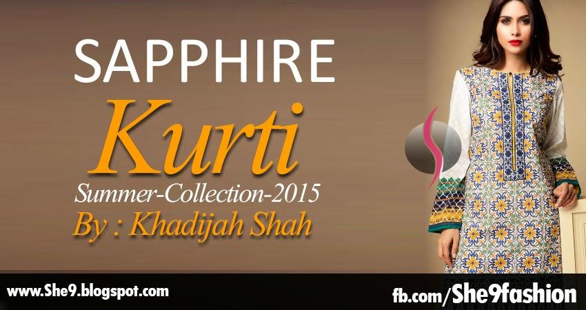 Sapphire Kurti by Khadijah Shah