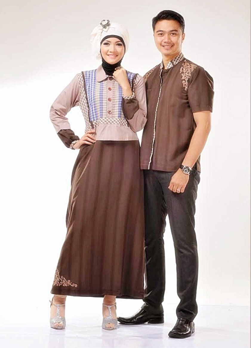 Kumpulan Model Gamis Batik Kombinasi Modern 41e3713b91