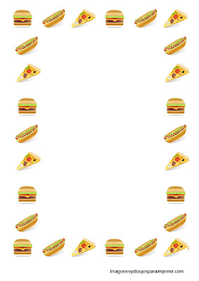 Sheets Printable fast food