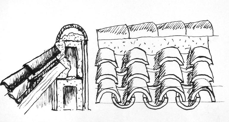 Trablog a pluma - Dibujos de tejados ...