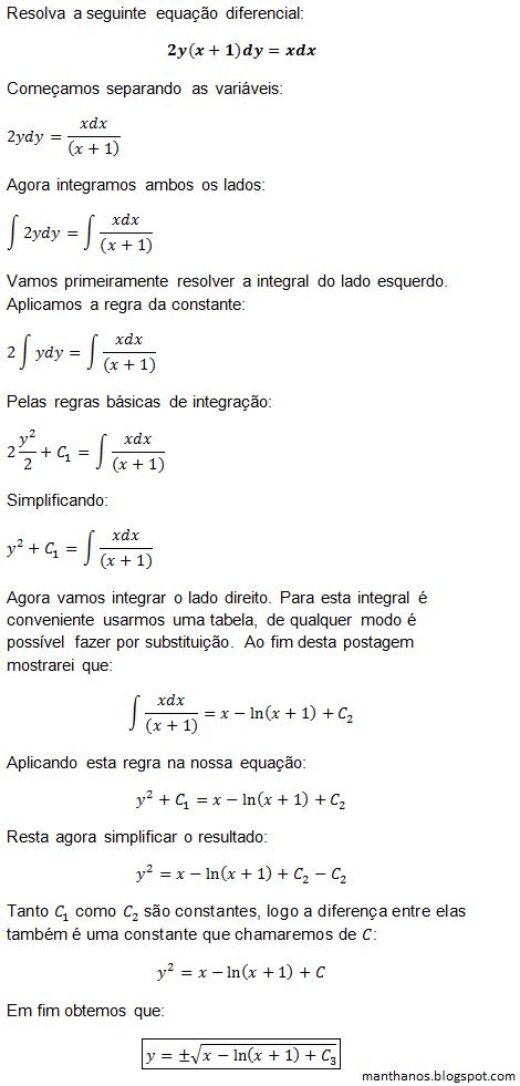 Blog manthano equaes diferenciais ordinrias variveis equaes diferenciais ordinrias variveis separveis exerccio 2 passo a passoparte 4 ccuart Image collections