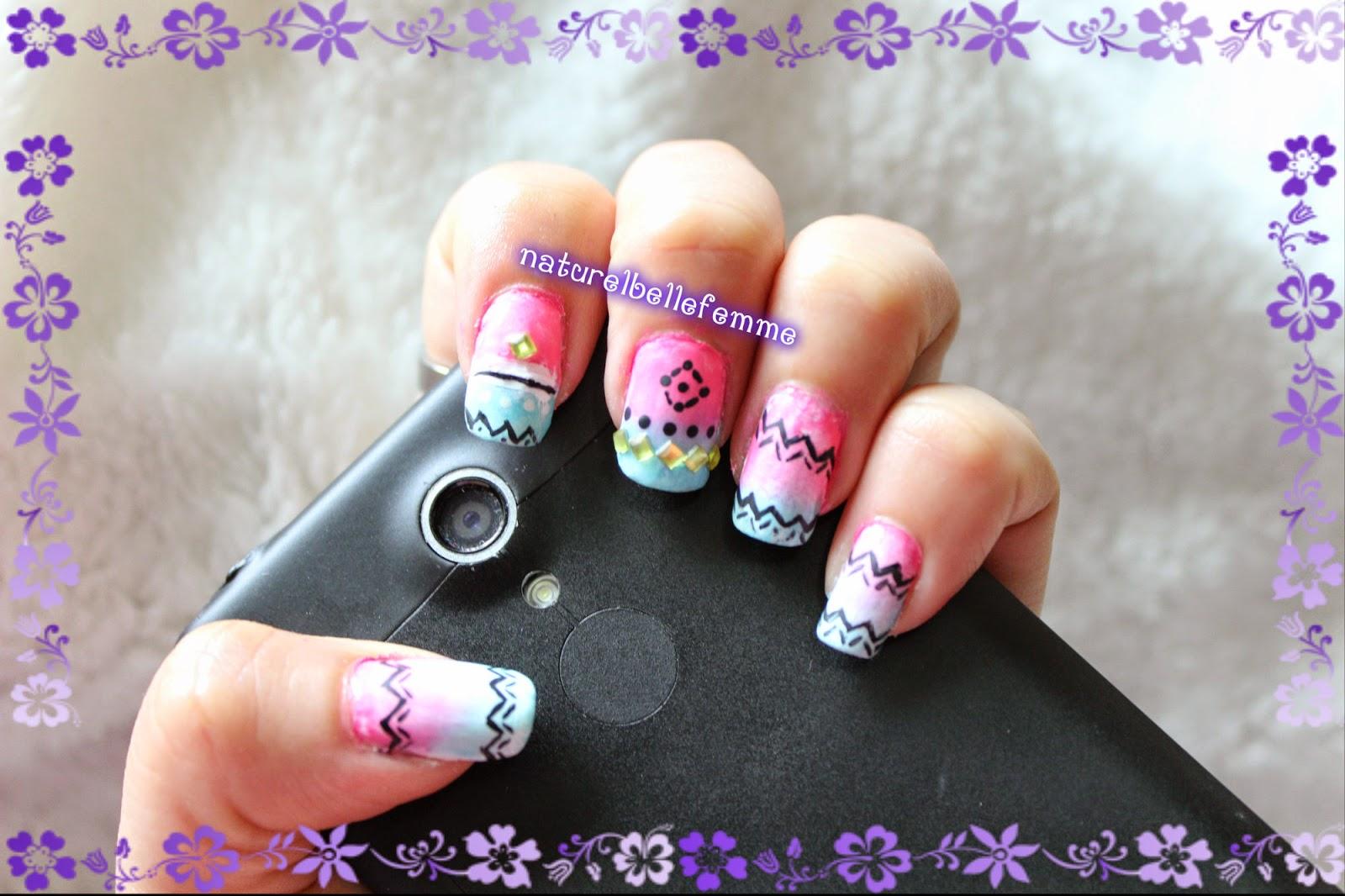 fresh vibrant nail art