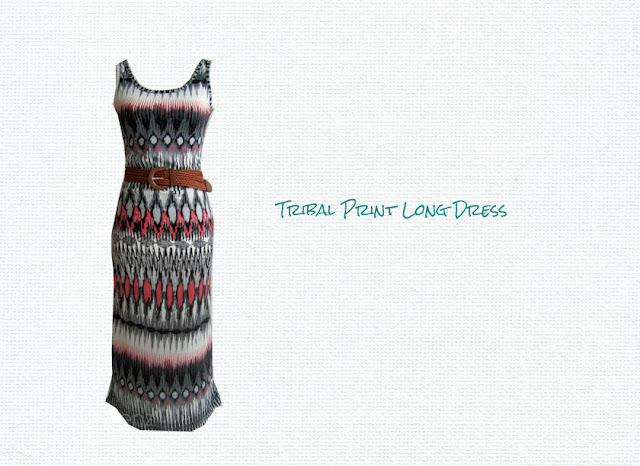 Tribal Print Long Dress