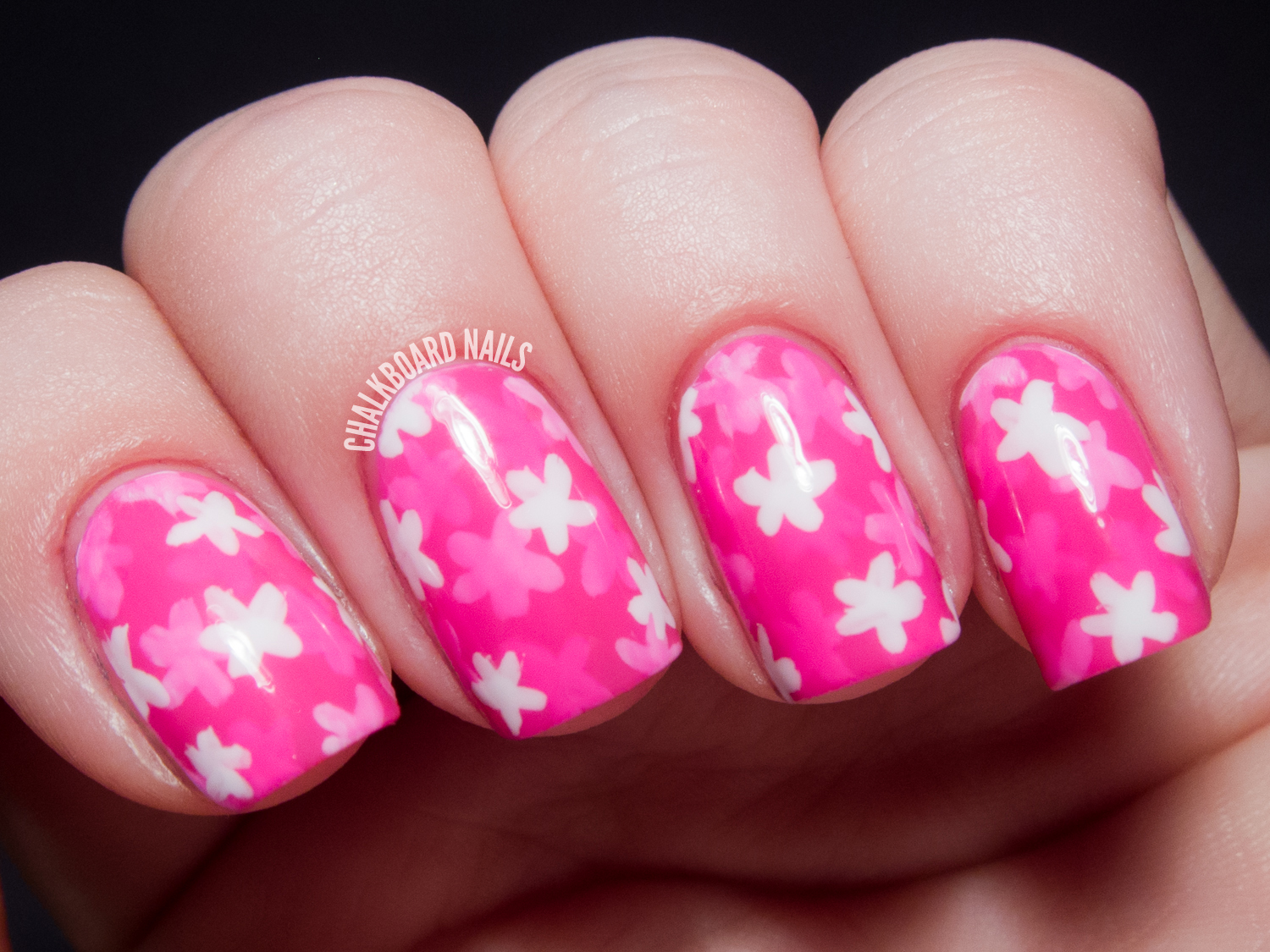 """31DC2013 Day 30: Inspired by a Tutorial (Floral """"Pond Manicure"""")"""