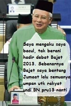 Najib Razak Bacul Pengecut Haramjadah