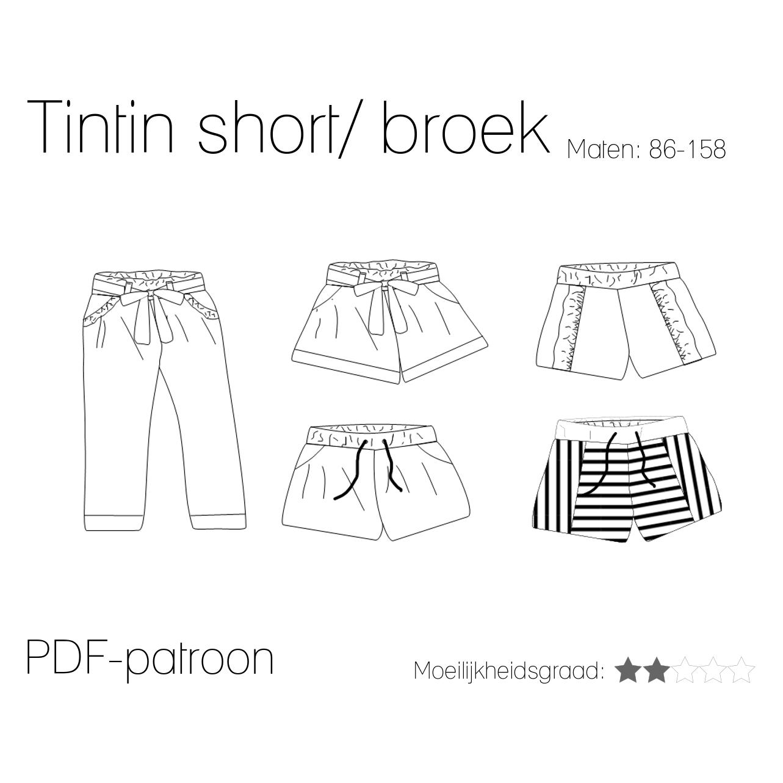 De Tintin short/broek