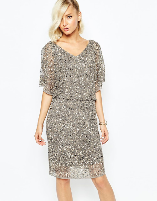 silver sequin dress, sequin midi dress, river island grey sequin dress,