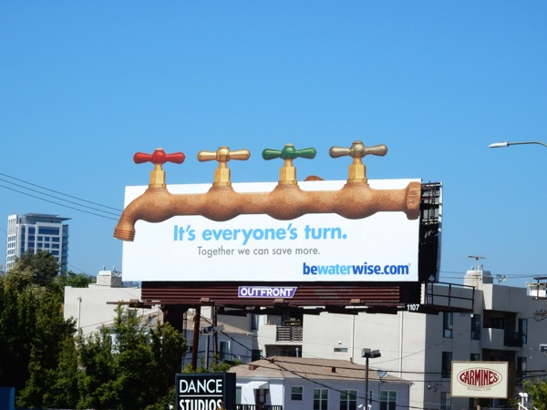 Be water wise faucet billboard