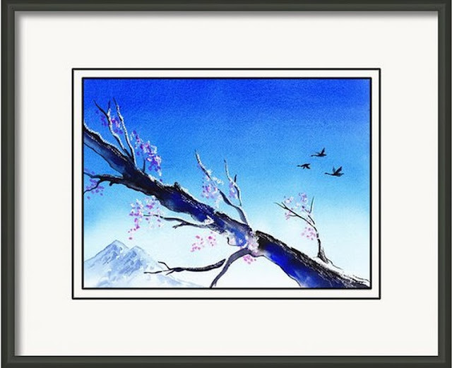 Branch Blossom Birds