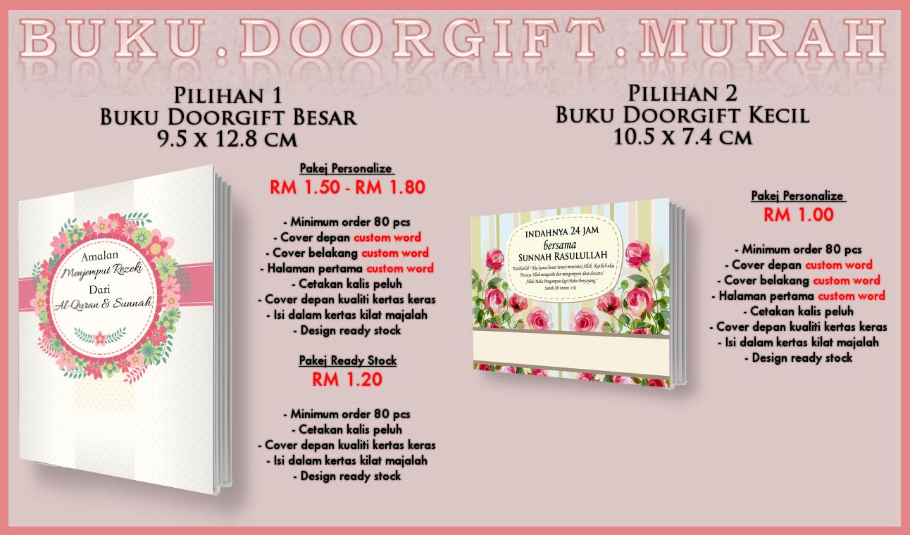 Buku Doorgift, Cenderahati & Cenderamata Murah