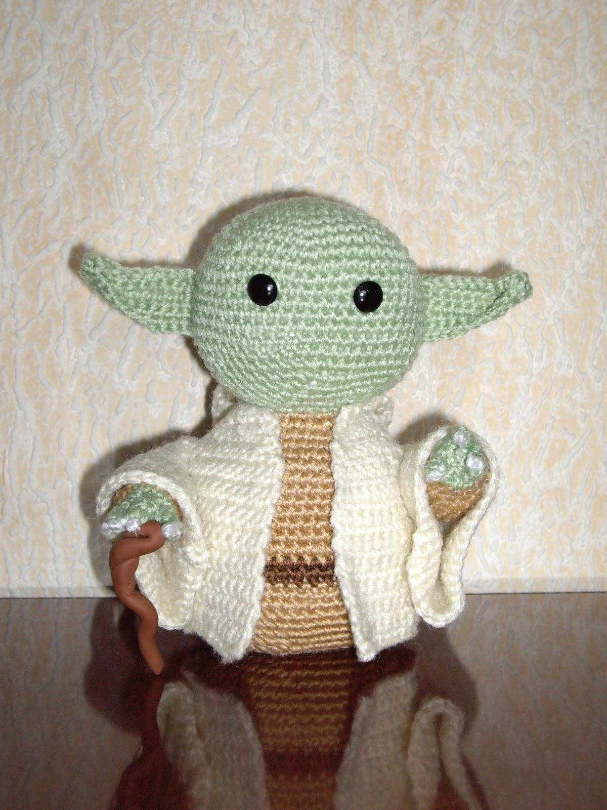 Jedi Master Yoda Amigurumi Pattern : Abuelita Rapta Ninos: Yoda Amigurumi