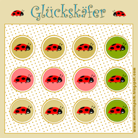 ladybug DIY stickers