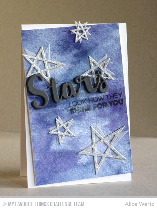 Look How They Shine for You Card by Alice Wertz featuring the Laina Lamb Design Count the Stars stamp set and the Lucky Stars and Stars & Wishes Die-namics #mftstamps