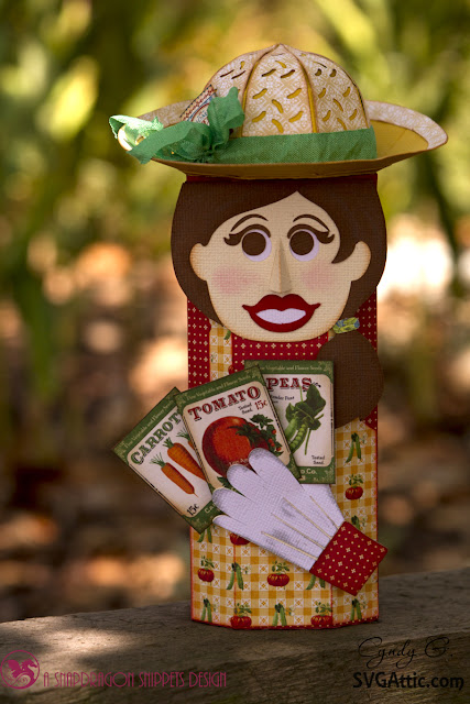 3d lady gardener box - Graphic 45 - Home Sweet Home