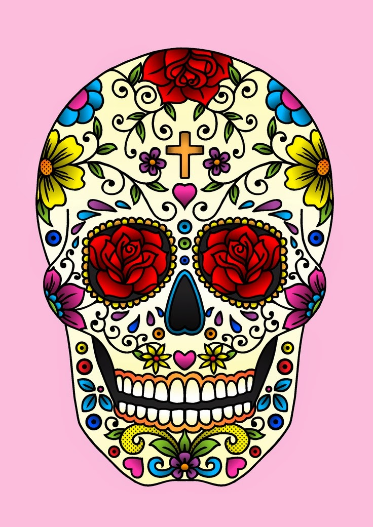 Geeky image with regard to printable sugar skull