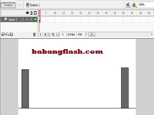Belajar Animasi Dasar, motion tween adalah dasar yang sederhana dalam membuat animasi di media flash, Flash di desain dengan kemampuan untuk membuat animasi