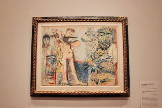 Photograph of Picasso's work blending human and beast.