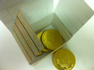 Treasure Box filled with Chocolate coins
