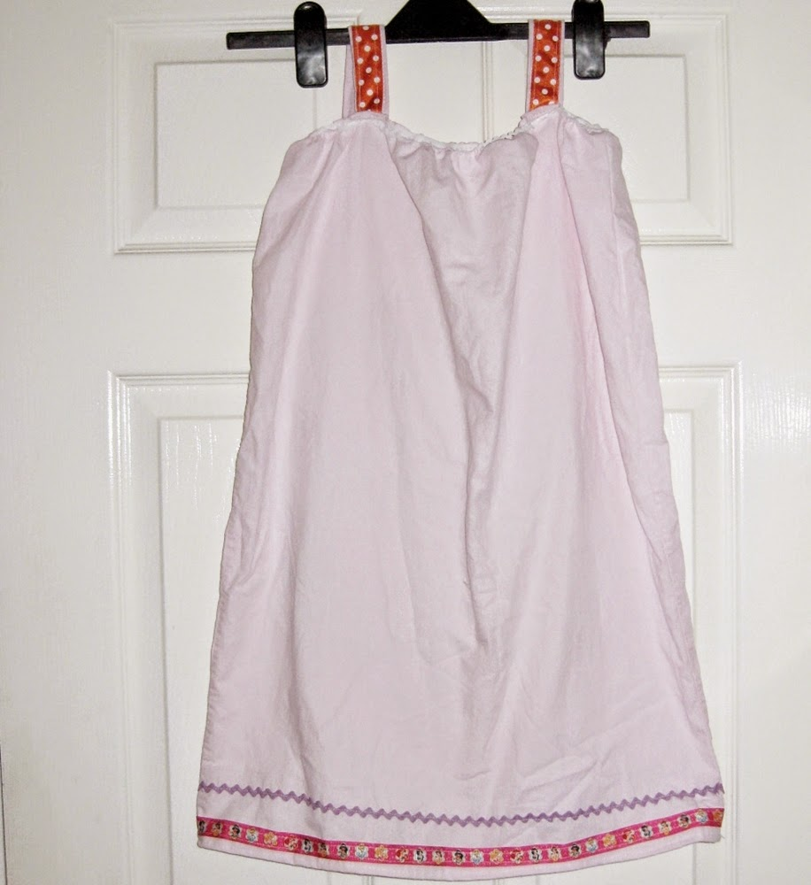 Little girls nightdress made from a pillowcase