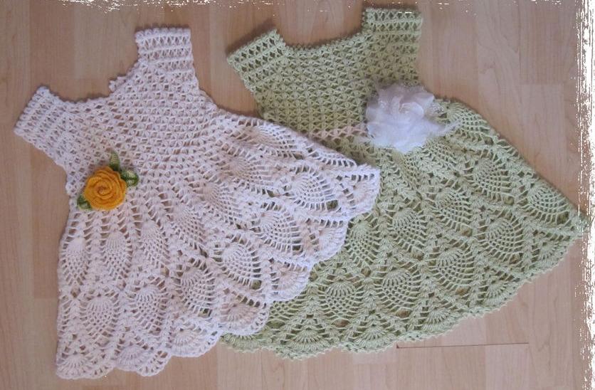Crochet Stitches Baby Frock : Casa da Salete: Vestido de croche (criancas )