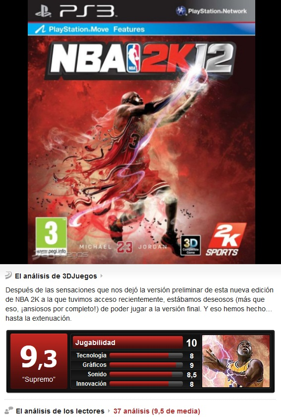 NBA2K12 [PS3][Esp][3.55]