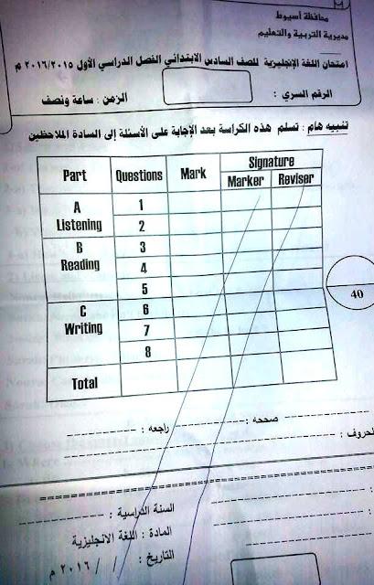 تجميعة شاملة كل امتحانات الصف السادس الابتدائى كل المواد لكل محافظات مصر نصف العام 2016 12439544_972973469449666_5676268466459960446_n
