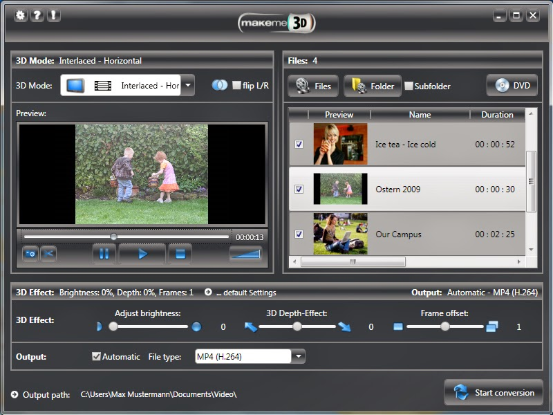 makeme3d-convert-video-movies-from-2D-to-3D