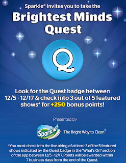 Sparkle, The Brightest Minds Quest, Viggle, Viggle Mom, +250 Bonus