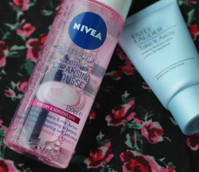 nivea, daily essentials, soothing and cleansing mousse, review, swatches, compare, high end, low end, drug store
