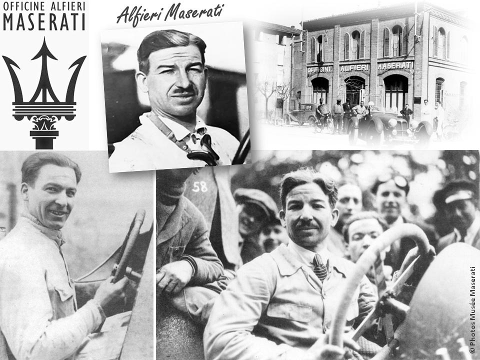 """MASERATI 100 YEARS - AUTOWORLD BRUSSELS - Alfiero Maserati - """"Officine Alfiero Masarati"""" (Bologne - 1914) - Bruxelles-Bruxellons"""