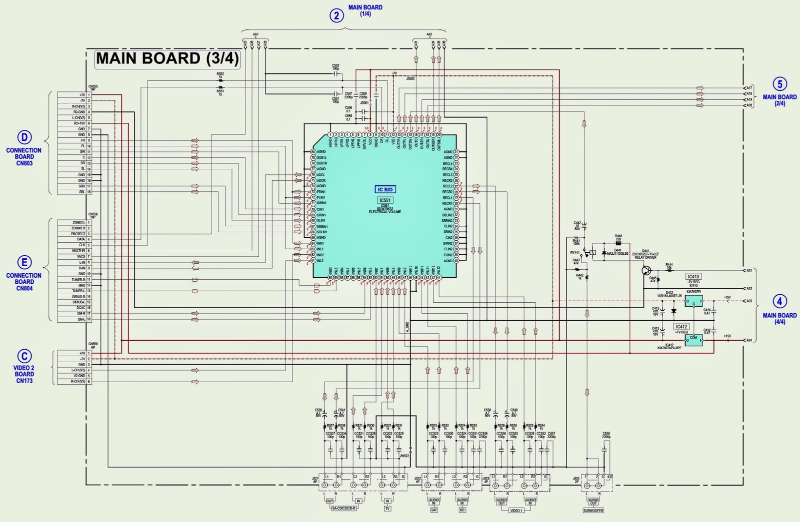 Sony Str Km7600 Australia Main Board on electronic circuit diagrams