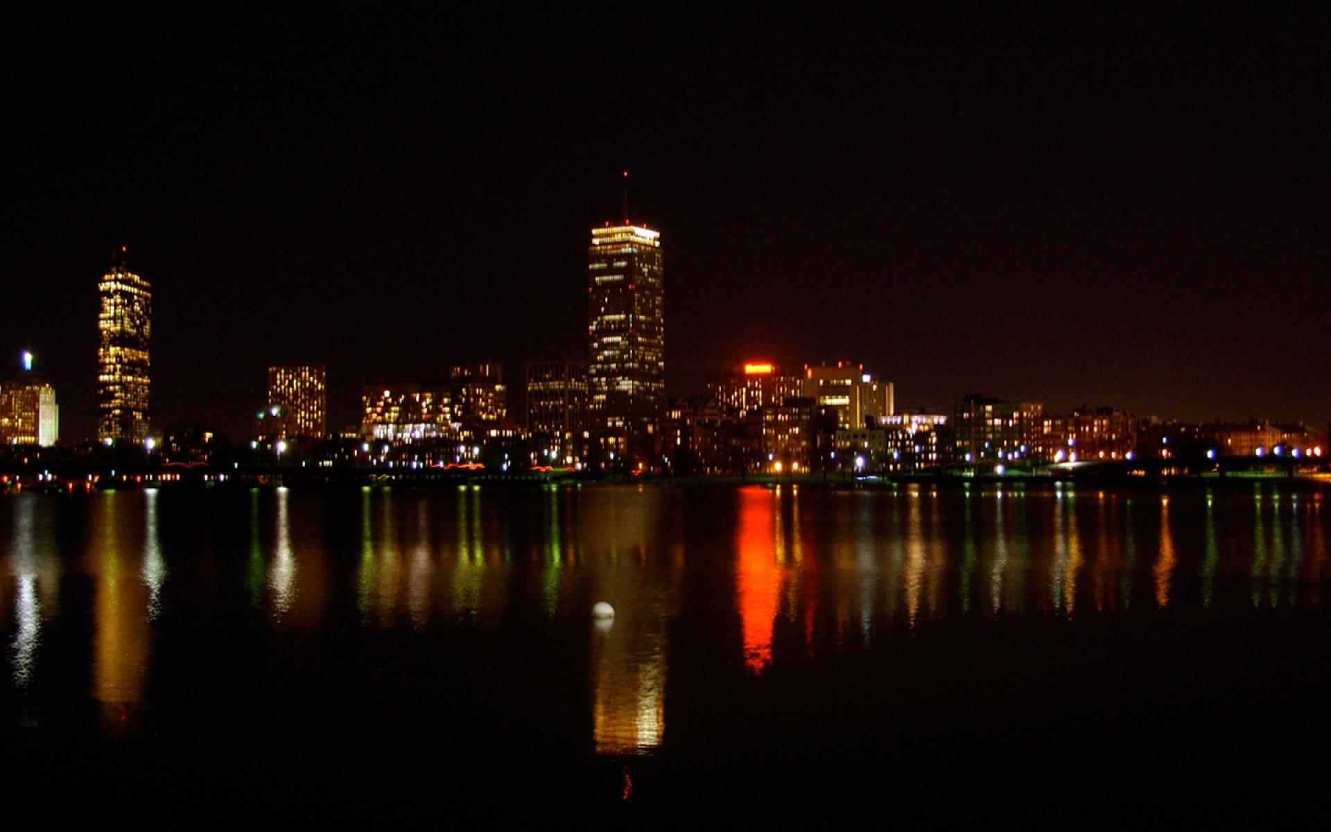 Boston Night Reflection