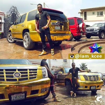 """Limpopo"" crooner Kcee Acquires 2014 Cadillac Escalade (Photos)"