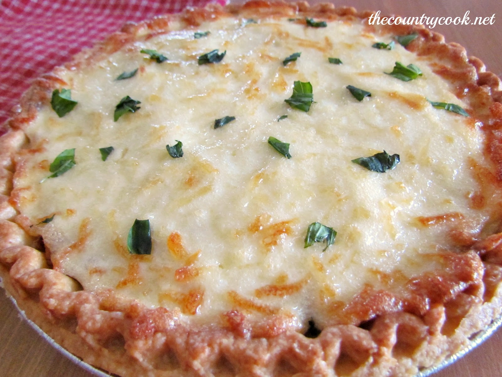 This pie is tasty served warm but is still yummy as it comes to room ...