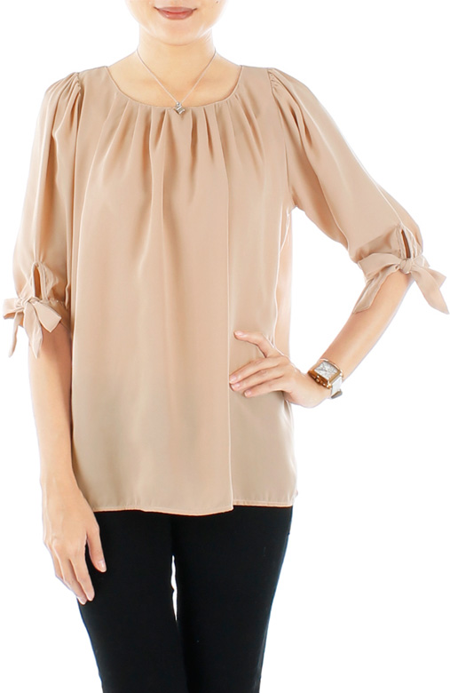 Prairie Ribbon Tie Sleeved Blouse
