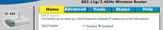 Setup roteador dlink - DHCP