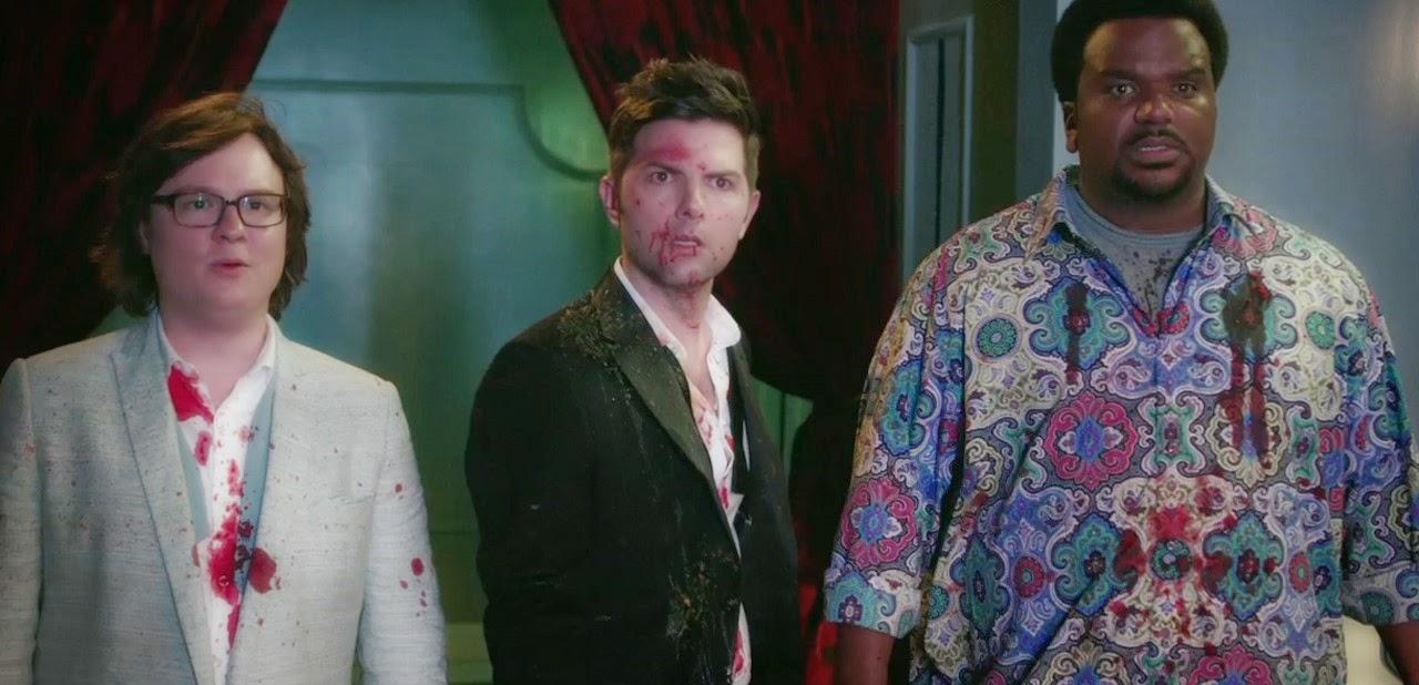 Clark Duke, Craig Robinson e  Rob Corddry no trailer para maiores da comédia A Ressaca 2