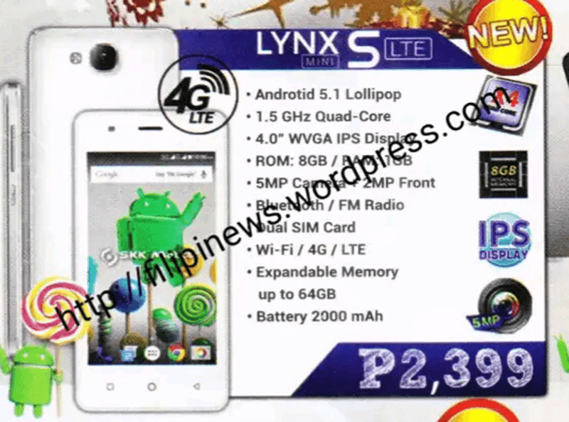 SKK Lynx S LTE Mini, The Most Affordable LTE Phone In Town At 2399 Pesos Only!