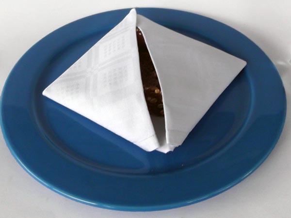ιδέες για δίπλωμα πετσέτας, πώς να διπλώσω τις πετσέτες φαγητού, δίπλωμα πετσέτας φαγητού,