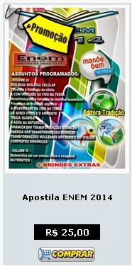COMPRE APOSTILA ENEM 2014