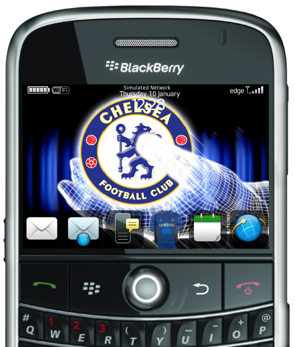 Download Chelsea FC 2012/2013 Themes Blackberry Bold 9000