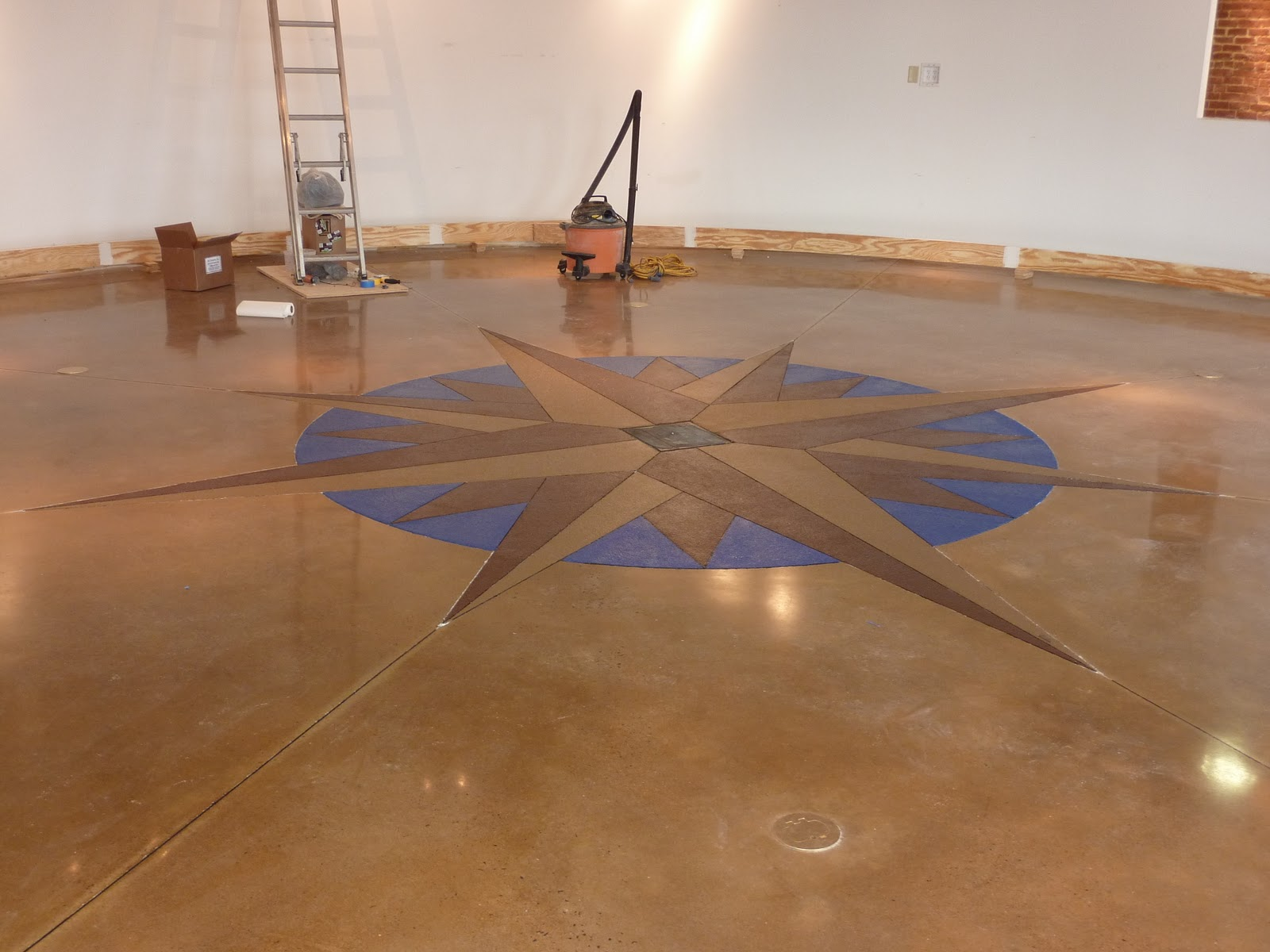 Frederick visitor center compass rose for On the floor on the floor