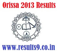 Orissa 10th supplementary Results 2013
